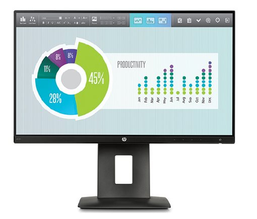 HP Z22n / 16:9 / 21,5'' IPS / 1920x1080 / 1000:1 / 7 ms / 250cd / VGA / HDMI / DP / USB / pivot