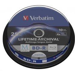 VERBATIM M-Disc BD-R DL(10-pack)25GB/4x/spindle