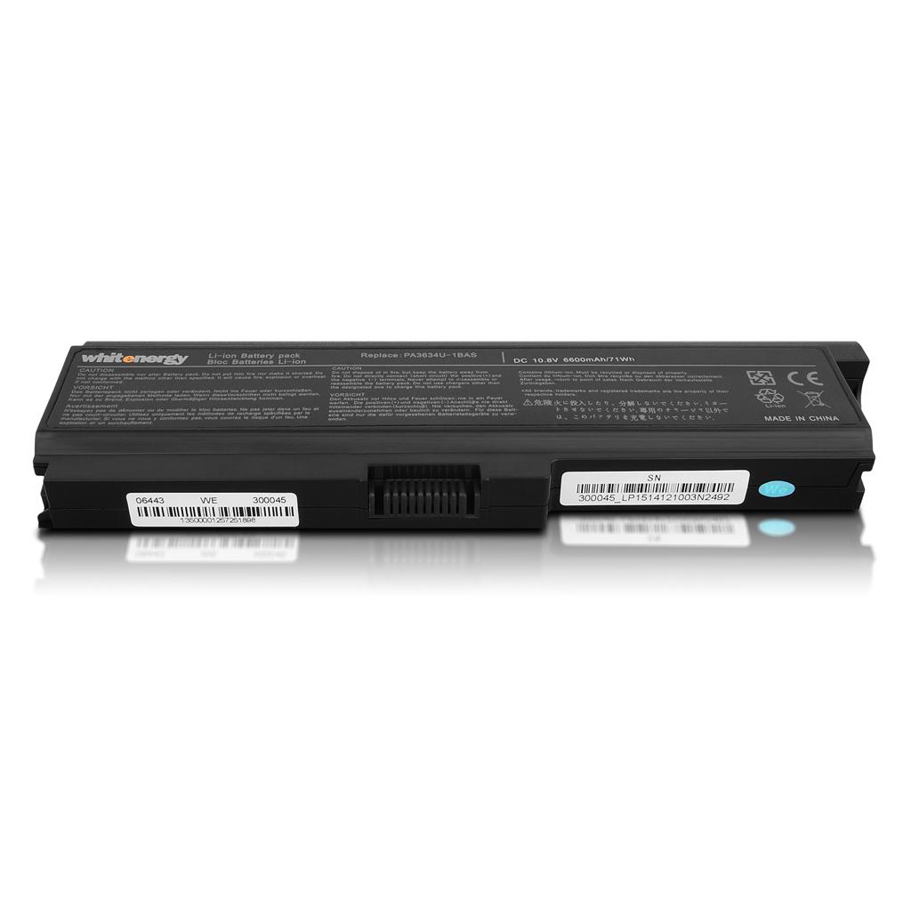 WE HC bat. pro Toshiba PA3634/PA3636 10,8V 6600mAh