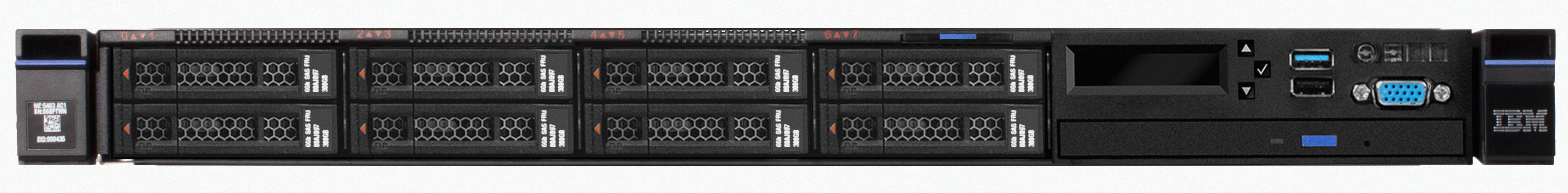 x3550 Rack/E5-2620v3/1x16GB/550W