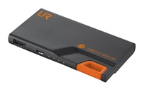 TRUST PowerBank 3000T Thin Portable Charger - black/orange