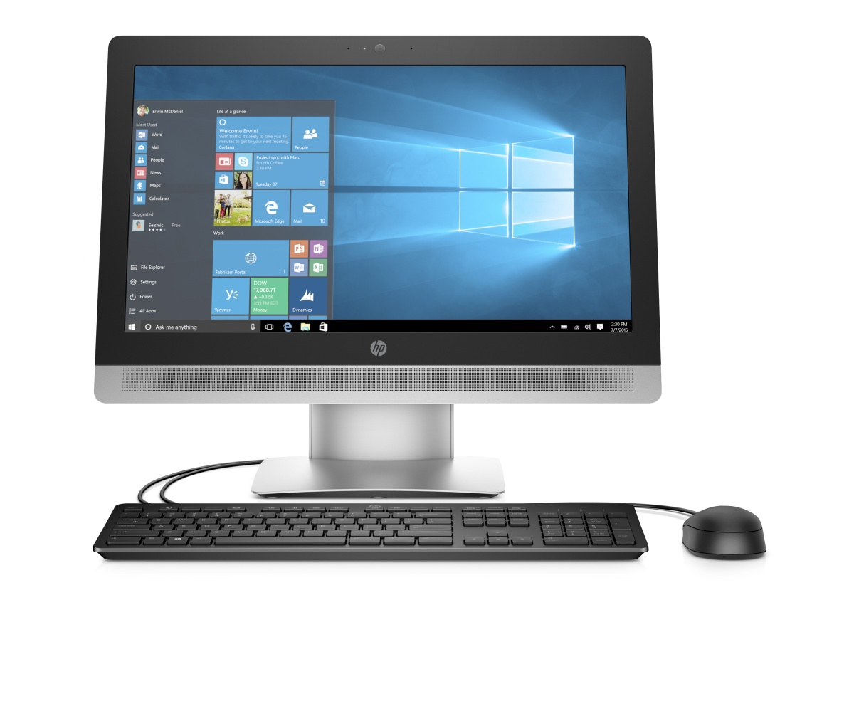 "HP ProOne 600 G2 AiO 21.5"" i3-6100/4GB/500GB/DVD/3NBD/W7+10P"