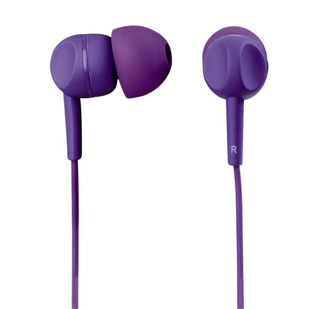 Sluchátka s mikrofonem Thomson EAR3005, silikonové špunty, fialová