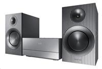 SAMSUNG MM-J430D/EN Mikrosystém 2x60W, dvoupásmové reprosoustavy, přehrává DVD, CD, MP3, DivX, USB, HDMI, Power Bass