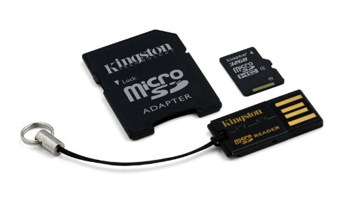 KINGSTON 32GB micro SD + SD adaptér + microSD čtečka Gen2 class 4