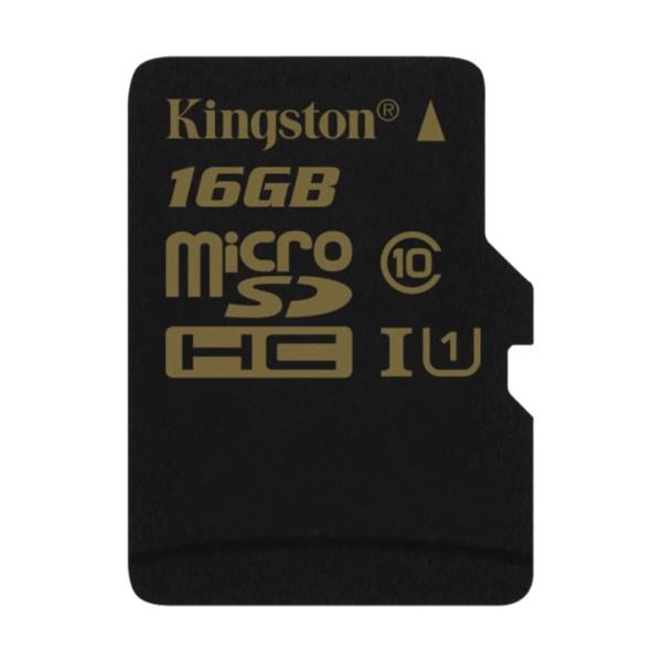 KINGSTON 16GB microSDHC Class 10 UHS-I 90MB/s read 45MB/s write + SD Adapter