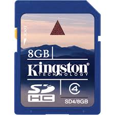 KINGSTON 8GB SDHC Memory Card - High Capacity Class 4