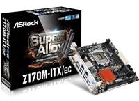 ASRock Z170M-ITX/AC, Z170, DualDDR4-2133, SATA3, RAID, HDMI, DVI, DP, mITX