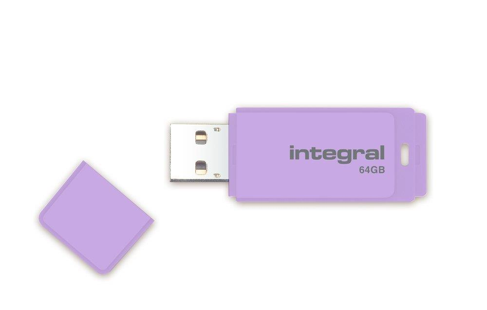 INTEGRAL Pastel 64GB USB 2.0 flashdisk, Lavender Haze