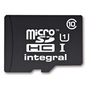 INTEGRAL Micro SDHC karta 16GB Class 10 (rychlost čtení až 40MB/s) +SDHC adaptér