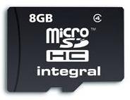 INTEGRAL Micro SDHC karta 8GB Class 4