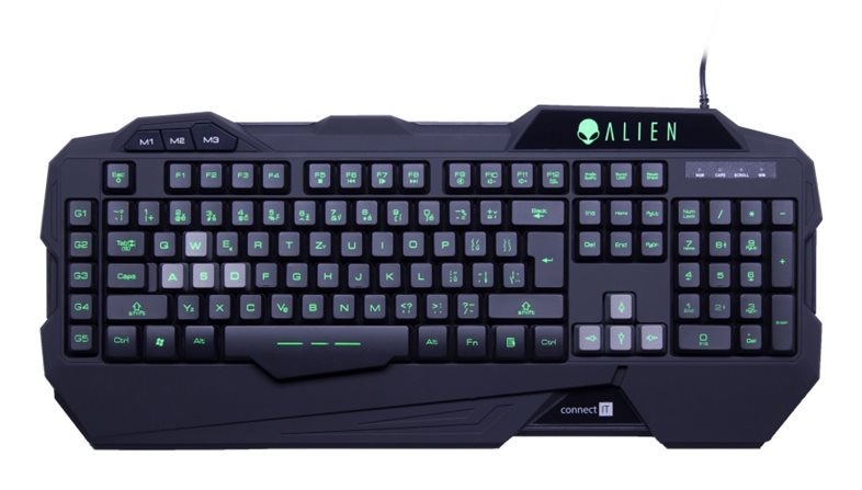 CONNECT IT ALIEN klávesnice pro hráče