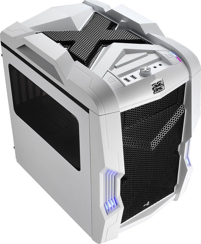 PC skříň Aerocool Micro-ATX STRIKE-X CUBE WHITE, USB 3.0, bez zdroje