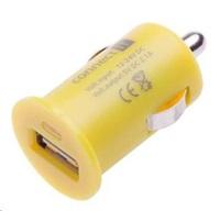 CONNECT IT auto adaptér 1xUSB 2,1A, žlutý