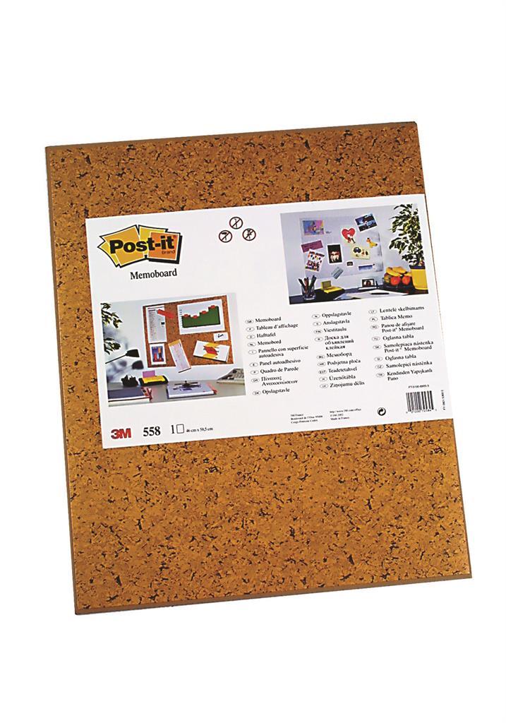 Samolepicí nástěnka Post-it® (558), 585x460mm, světle hnědá