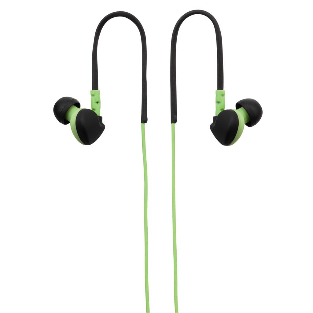 Hama sluchátka s mikrofonem RUN, silikonové špunty, klip, zelená/černá