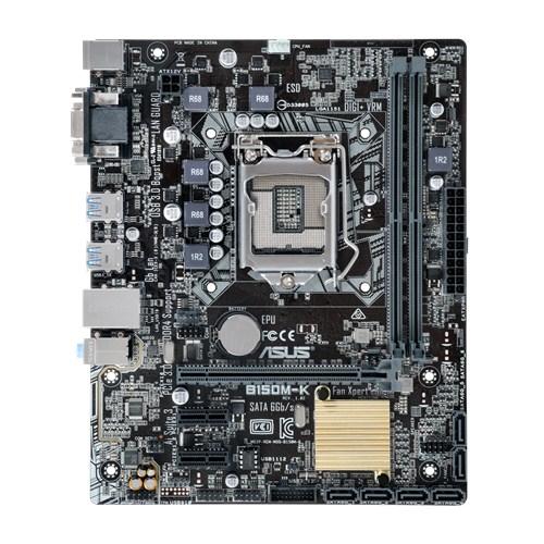 ASUS B150M-K, 1151, B150, 2xDDR4, PCIe 3.0x16, SATAIII, USB3.0, DVI-D/D-Sub, mATX