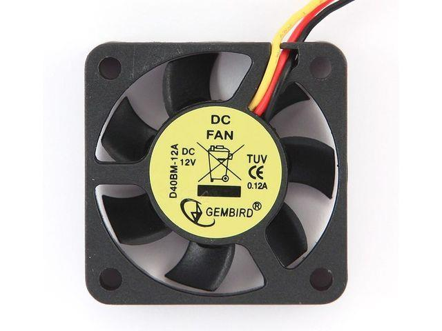 Gembird 40x40x10mm DC větrák do grafické karty, 3-pin 12V