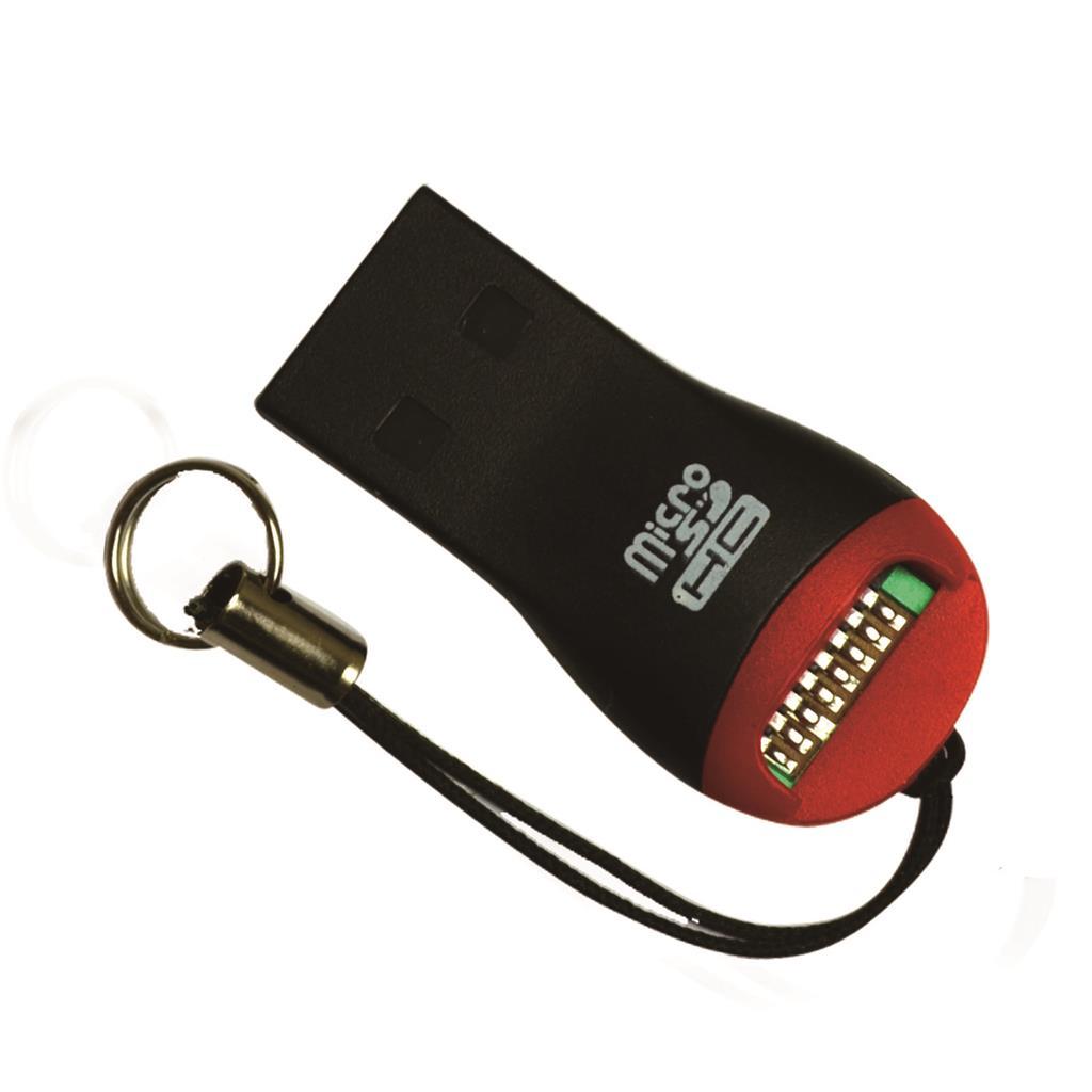 MSONIC čtečka paměťových karet microSD/microSDHC/TF USB 2.0 MC124 černý