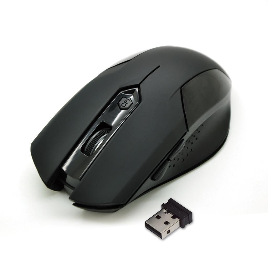 VAKOSS bezdrátová optická myš TM-651UK 6D, 800/1200/1600DPI, 2.4GHz, černá