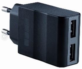 Origami síťová nabíječka 2x USB 2.1A, černá