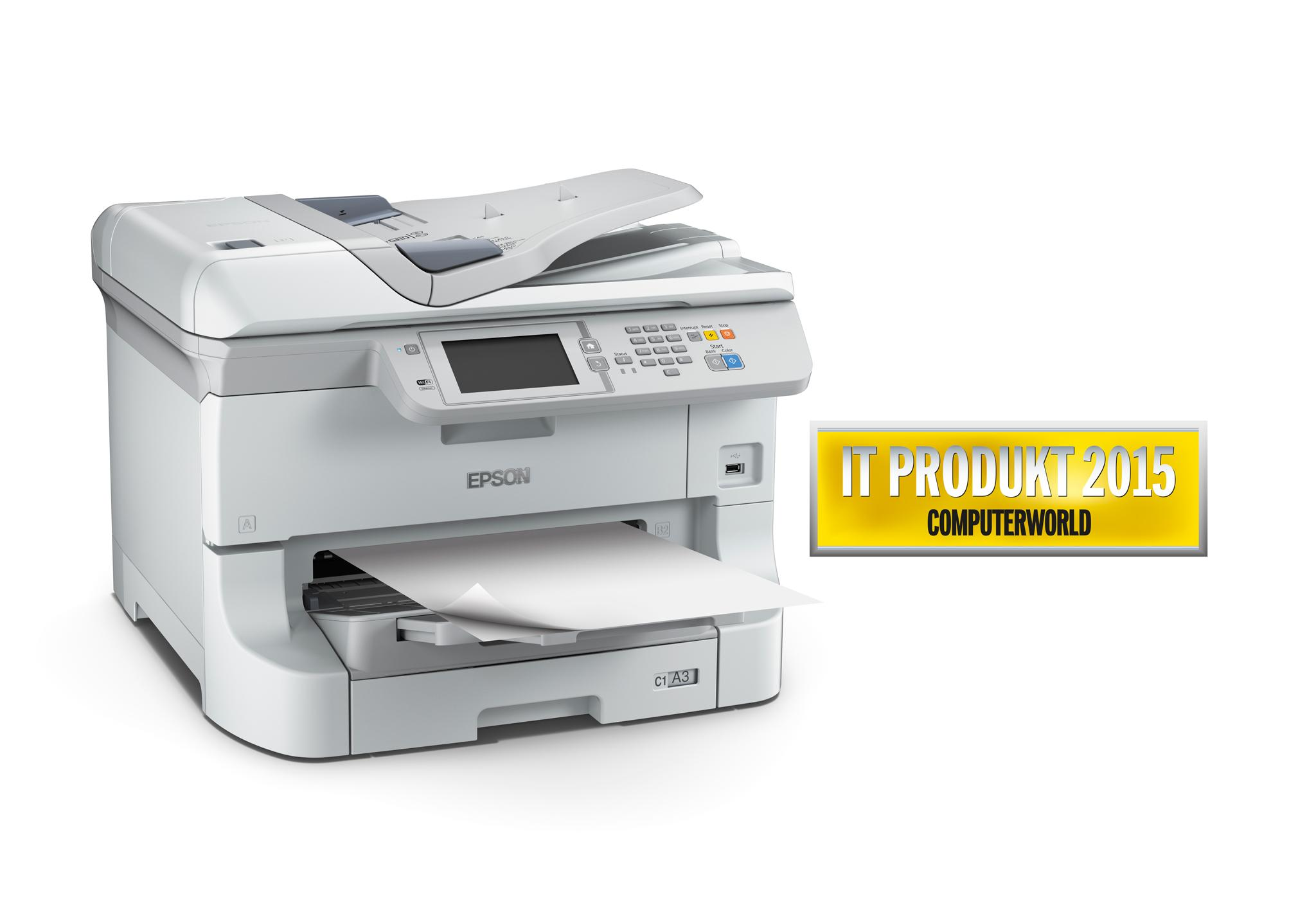 EPSON WorkForce Pro WF-8510DWF - A3+/34ppm/4ink/USB/LAN/WiFi/Duplex/ADF/Fax