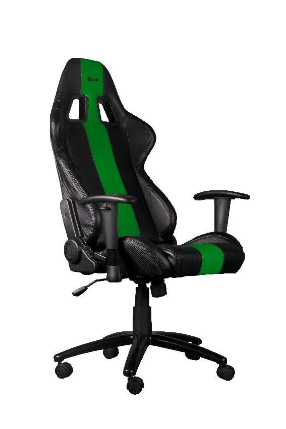C-TECH herní křeslo PHOBOS (GCH-01G), černo-zelené