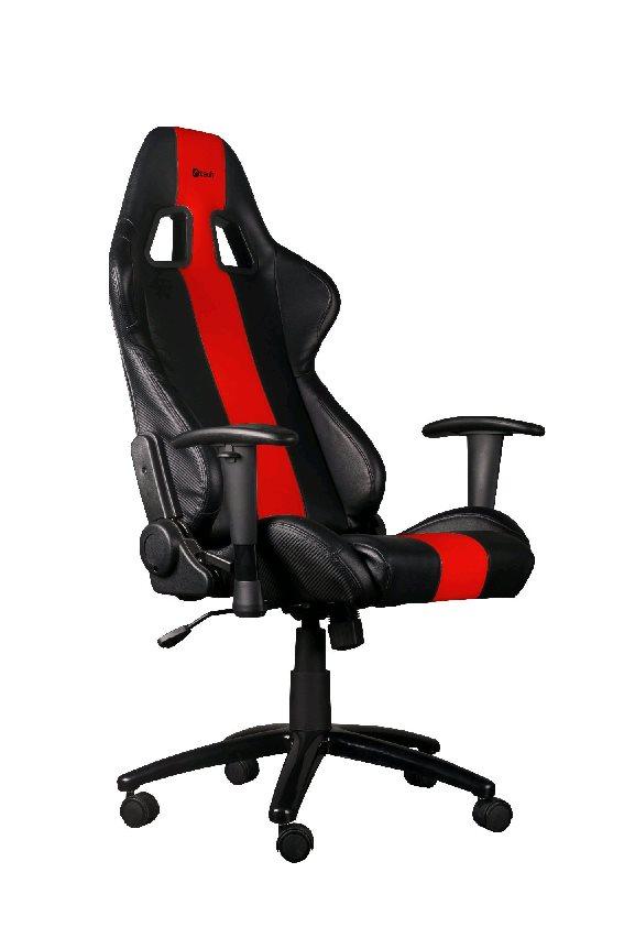 C-TECH herní křeslo PHOBOS (GCH-01R), černo-červené