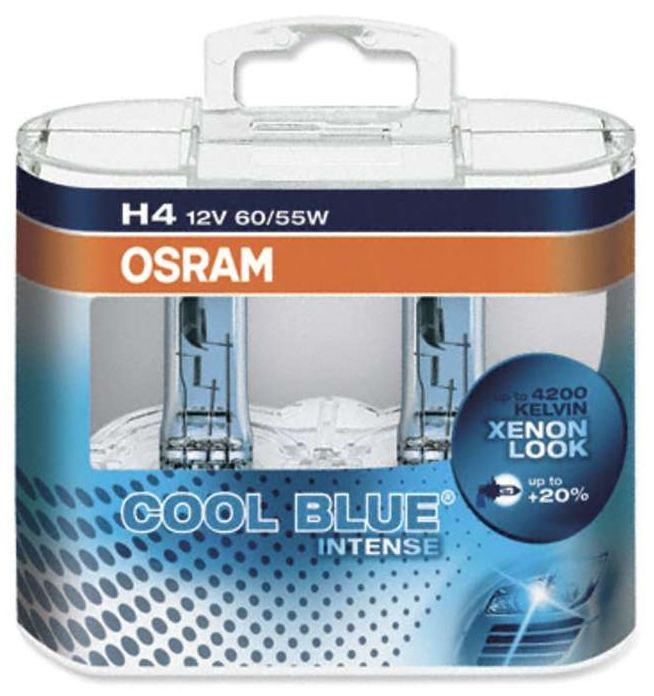 OSRAM žárovka H4 12V, 60/55W Cool Blue Intense - sada 2 kusů
