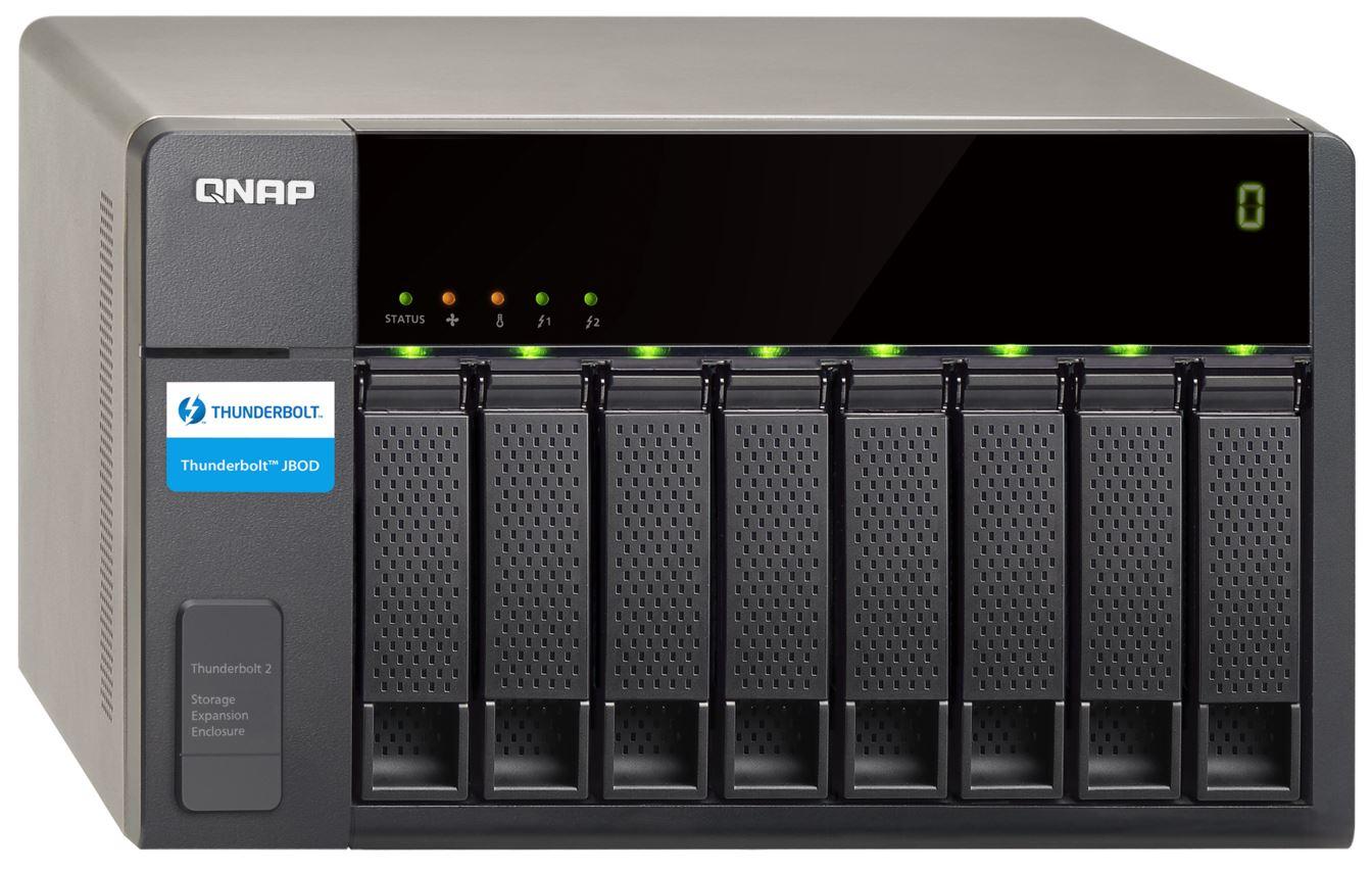 QNAP TX-800P TWR 8x 2.5/3.5 SATA