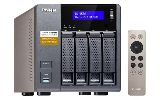 QNAP TS-453A-4G Turbo NAS server, 1,6 GHz QC/4GB/4xHDD/4xGL/2xHDMI/USB 3.0/R0,1,5,6/iSCSI/DO