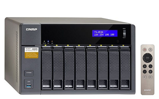 QNAP TS-853A-4G Turbo NAS server, 1,6 GHz QC/4GB/8xHDD/4xGL/2xHDMI/USB 3.0/R0,1,5,6/iSCSI/DO