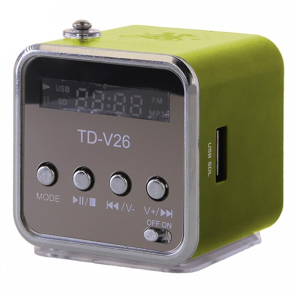 GT TD-V26 mini reproduktor, zelený