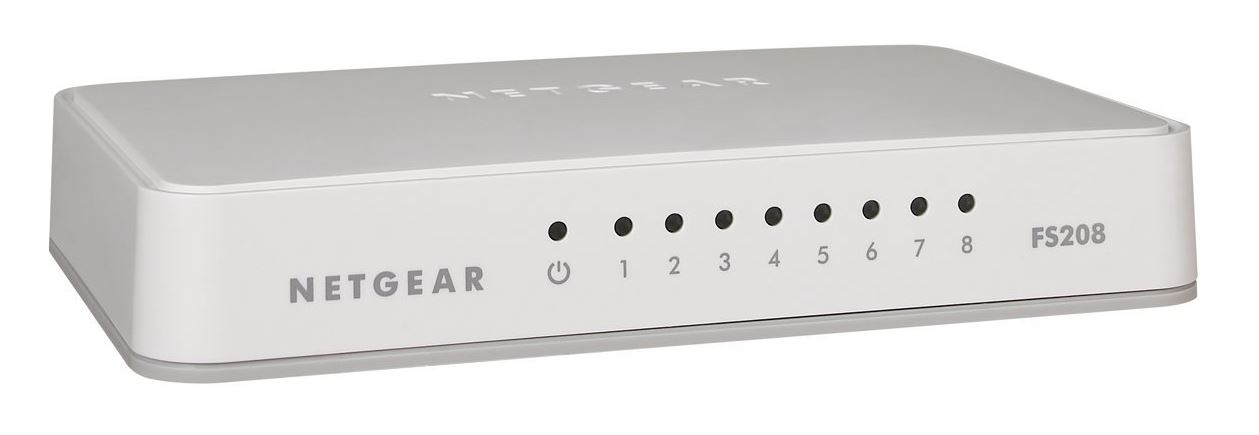 Netgear 8x 10/100 Ethernet Switch (plastic case)