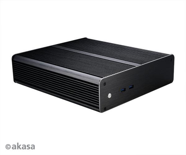 skříň AKASA Euler M + 80W adaptér (pasiv) bez loga