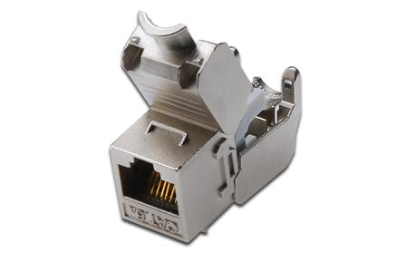 DIGITUS CAT6A Keystone Jack stíněný, RJ45 to LSA Toolfree
