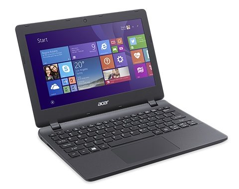 "Acer Aspire ES 11 (ES1-131-C9AF) Celeron N3050/2GB+N/eMMC 32GB+N/HD Graphics/11.6"" HD matný/BT/W10 Home/ Diamond Black"