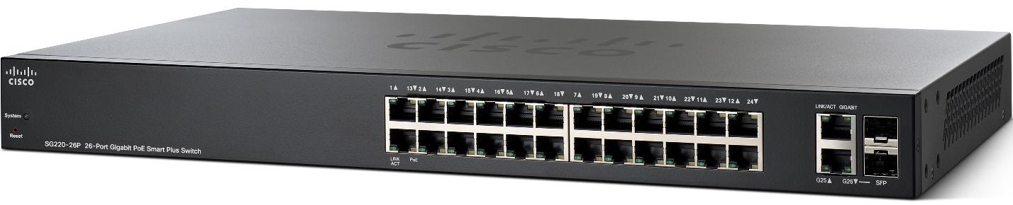 Cisco SG220-26P-K9-EU 26xGigabit PoE Smart+ Switch