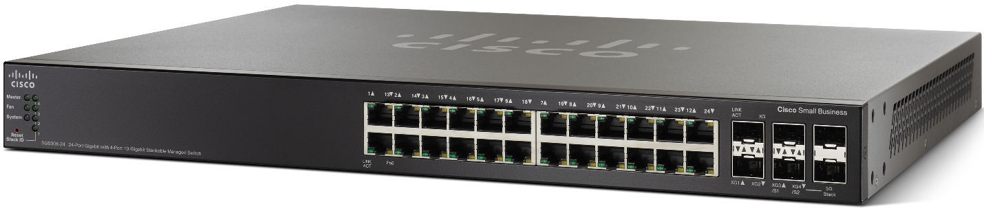 Cisco SG500X-24 24x10/100/1000, 4x10Gig SFP+ Stackable Managed Switch