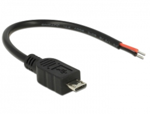 Delock Kabel USB 2.0 Micro-B samec > 2 x dráty bez konektoru 10 cm Raspberry Pi