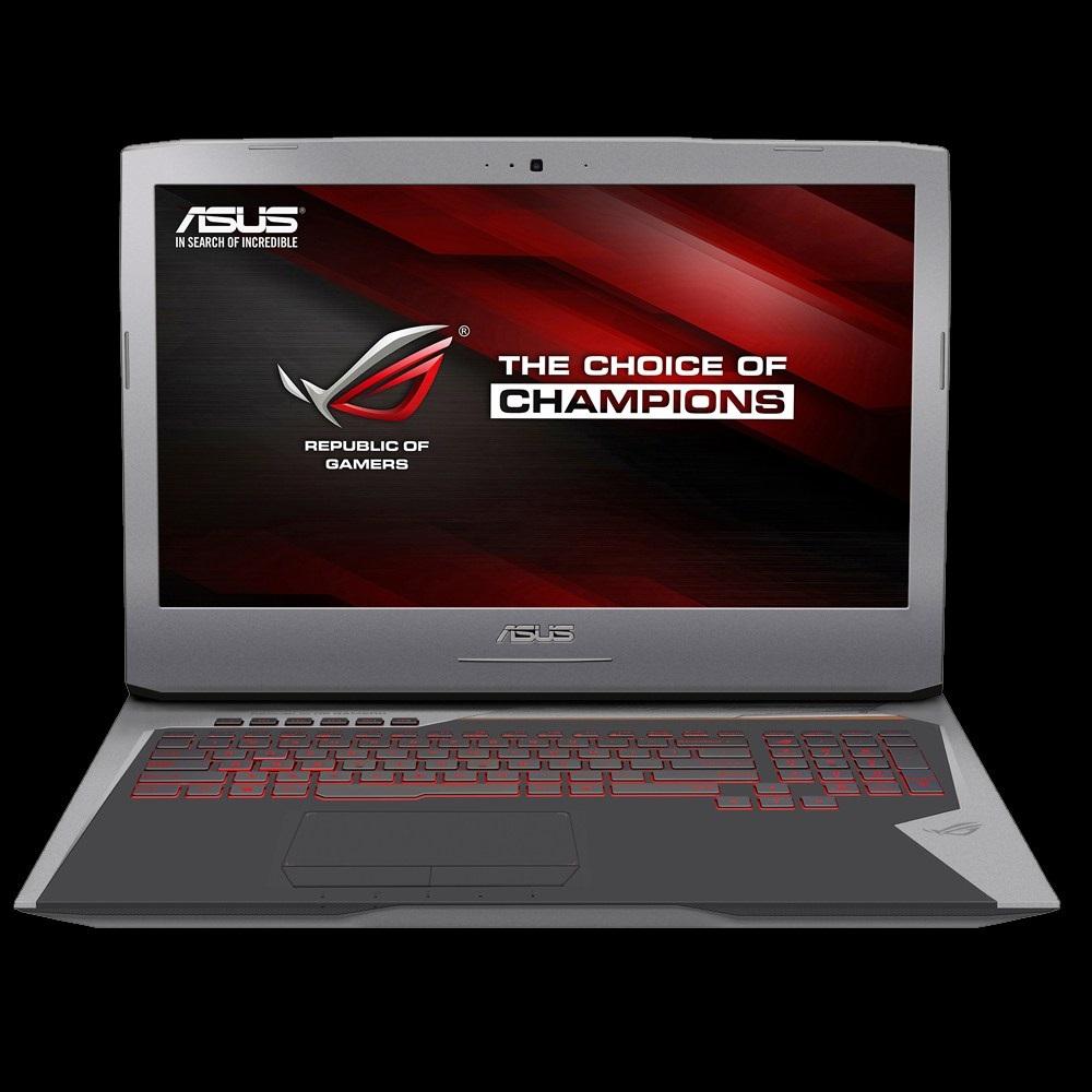 "ASUS NB G752VY - i7-6700HQ@2.6GHz, 17.3"" matný FHD IPS, nVGTX980M 4G,16GB,2T54+256GB SSD, DVD, WiFi, BT, HDMI, W10, šedý"