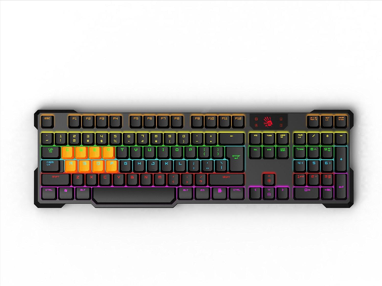 A4tech Bloody B700 mechanická herní klávesnice, mechanické klávesy s optickým infračerveným snímáním USB, CZ