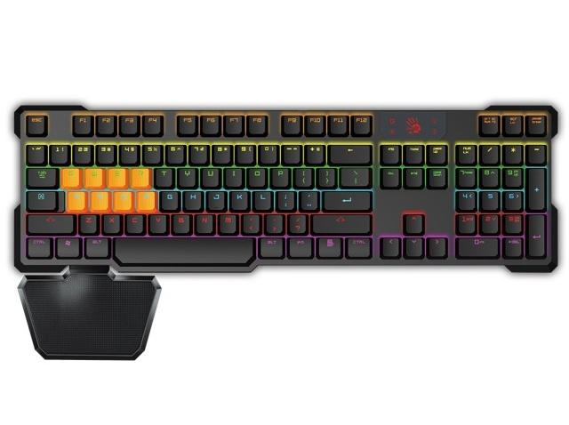 A4tech Bloody B720 mechanická herní klávesnice, mechanické klávesy s optickým infračerveným snímáním USB, CZ