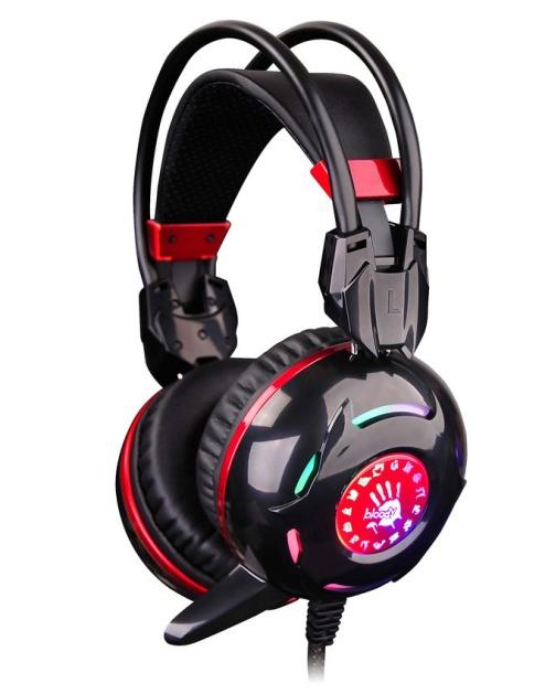 A4tech Bloody G300, herní sluchátka, černé, USB, 2x 3,5mm jack
