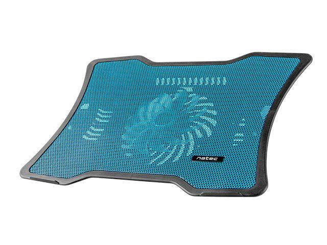 NATEC laptop cooling pad MACAW Blue (12,1''-15,6'') silent fan with LED backlig