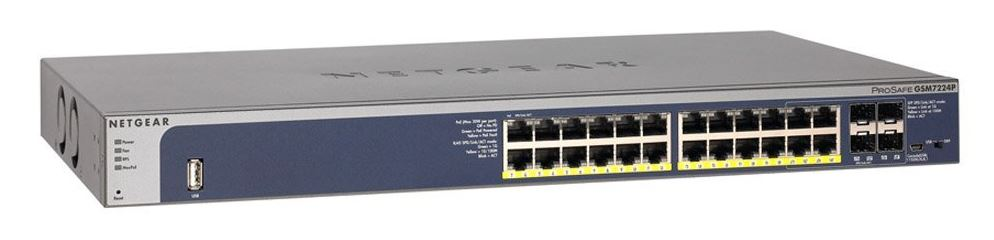 Netgear M4100-24G-POE+ L2+ Managed Switch 24-Port PoE+ Gigabit (GSM7224P)