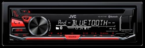 Autorádio JVC KD-R 771BT cervena