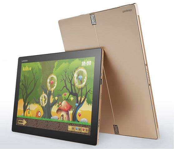 "Lenovo Tablet MiiX 700 LTE M5-6Y54 2,70GHz/8GB/256GB SSD/12,0"" FHD+/multitouch/4G/WIN10PRO zlatá 80QL008GCK"