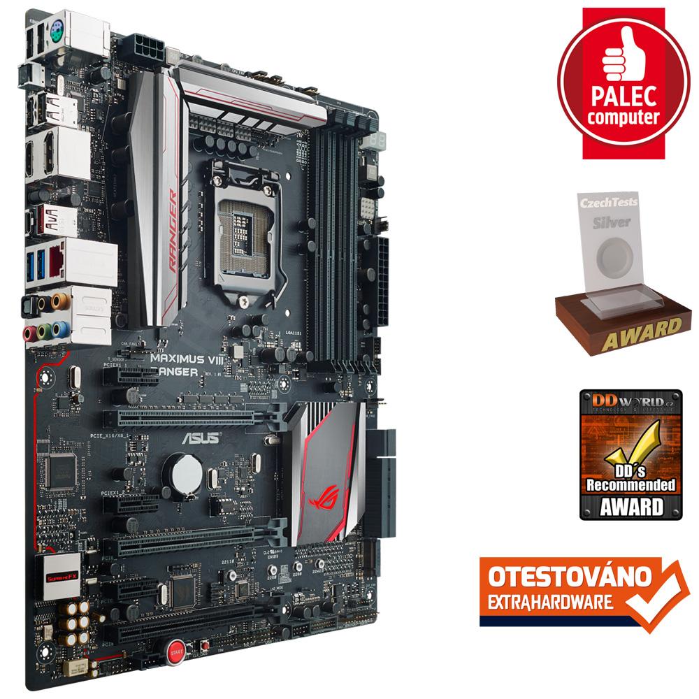 ASUS MAXIMUS VIII RANGER, s.1151, Z170, 4xDDR4, PCIe 3.0x16, SATAIII, M.2, HDMI/DP, GLAN, USB3.1, ATX