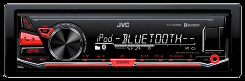 Autorádio JVC KD-X230E red